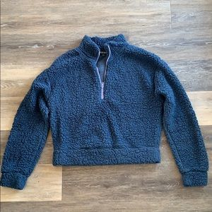 2 for $15 - Wild Fable Crop Navy Teddy Sweatshirt